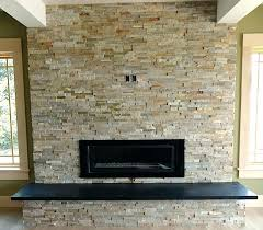 stone tiles fireplace installing stone over tile fireplace