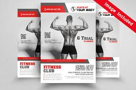 Fitness Gym Flyer Templates By Designhub | Thehungryjpeg.com