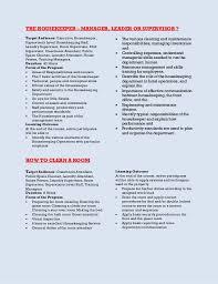 Housekeeping Skills Resumelist Ga