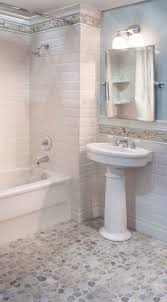 Kids Bathroom Flooring Sea Green And White Pebble Tile Pebble Floor Shower Floor And Tile