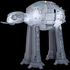 Gemmy 8 ft. Inflatable AT-AT On Snow Base Scene-37523 - The Home Depot