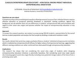 Entrepreneurship Be Enterprising