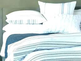 blue and white striped quilt bedding sets rugby stripe sheet set w pottery barn