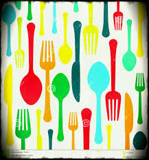 Kitchen Cooking Utensils Over Wooden Table Background Top View