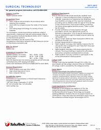 Surgical Technologist Resume Template Best Of Freegical Tech Resume