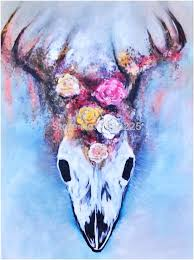 hand painted deer paintings for living room decor wall painting on canvas modern abstract animals oil painting hang pictures in painting calligraphy from