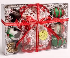 Cakes By Colby Pittsburgh Pa Christmas Cake Pops In White Box