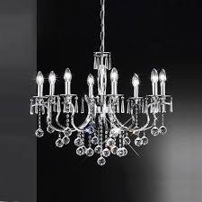 taffeta crystal chandelier light fl2155 8