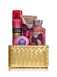 bath and body works gift basket ideas a thousand wishes gold woven basket gift kit bath body works