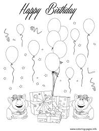 Two Trolls Happy Birthday Coloring Pages Printable