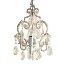 tadpoles 3 light white diamond mini chandelier