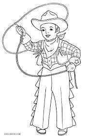 Cowgirl Coloring Pages Printable Cowboy Coloring Pages Printable