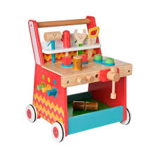 10 of 12 children wooden activity learning toys fun figurines kids tools workbench walker