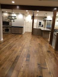 Engineered Wood Flooring Kitchen Hudson Bay Random Width Engineered Walnut Hardwood Flooring In