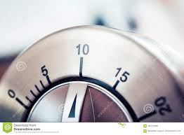 Timer 10 Minutes 10 Minutes Analog Chrome Kitchen Timer Stock Photo Image Of