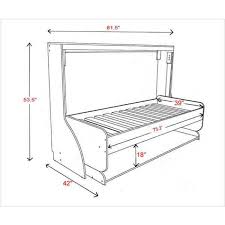 hiddenbed single bed dimensions twin murphy bed dimensions64 dimensions