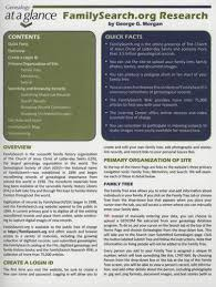 Genealogy At A Glance Familysearch Org Research By George G Morgan