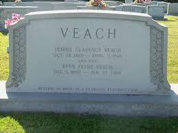 Dennie Clarence Veach (1889-1966) - Find A Grave Memorial