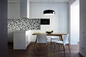 For Small Kitchens In Apartments Magnificent Small Apartment Kitchen Idea With Artsy Backsplash