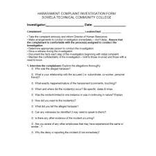 49 Employee Complaint Form & Letter Templates - Template Archive