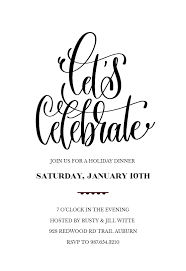 Lets Celebrate Invitation Template Customize Add Text And Photos Delectable Free Dinner Invitation Templates Printable