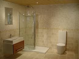 Bathroom  Attractive Modern Bathroom Design Ideas With Beige Wall - Glazed bathroom tile