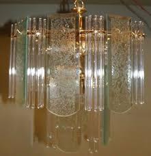 mid century modern glass rod panel sciolari lightolier style chandelier light