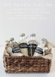 homemade vanilla kit gift with vanilla extract vanilla bean sugar vanilla bean simple syrup