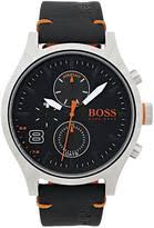 futuristic watches shopstyle uk hugo boss amsterdam black multidial black leather strap mens watch