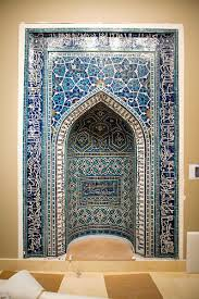 a 14th century prayer niche or mihrab from a theological school in isfahan iran credit piotr redlinski for the new york times