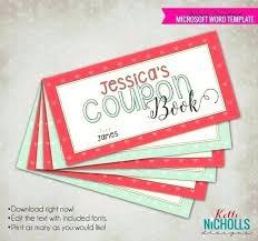 Printable Customized Coupon Book Custom Template Templates
