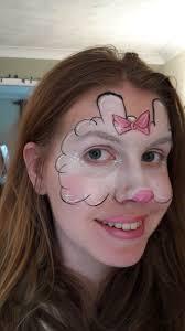 suzy sheep peppa pig character masks face painting design