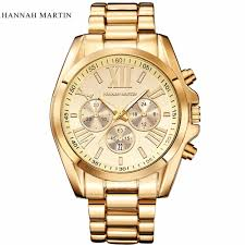 popular watch brands for men promotion shop for promotional hannah martin fashion casual sport steel chain luxury brand auto date male wristwatch strap watches for men popular watch quartz