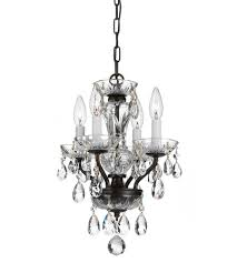 crystorama 5534 eb cl mwp traditional crystal 4 light 11 inch english bronze mini chandelier ceiling light in english bronze eb clear hand cut