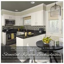 kitchen backsplash. Benjamin Moore Starts A Trend With Stenciled Kitchen Backsplashes - Stencil Stories Backsplash