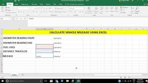 Excel Mileage Chart Calculate Your Vehicle Mileage Using Microsoft Excel