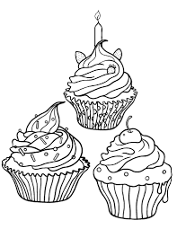 Small Picture Free Cupcake Coloring Page