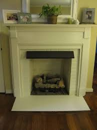 painted fireplace and hearth