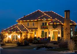 Red Lights White House Outdoor Christmas Lights Ideas For The Roof