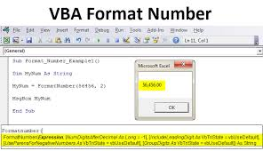 Vba Format Number How To Format Numbers In Excel Using Vba