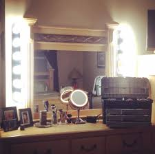 vanity table lighting. Classic Diy Makeup Vanity Table Including Square Mirror With Side Lights Featuring Pedestal Frame Accent Lighting D