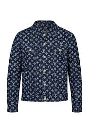 men monogram denim jacket men ready to wear coats and outerwear louis vuitton