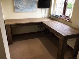 corner desk home. UK Handmade Rustic Corner Desk - Home Furniture Office Workstation Unit L Shape A