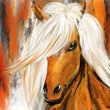brown horse painting not your ordinary colorful horse white and brown paintings by