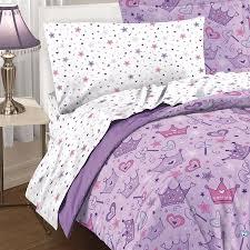 Amazon.com: Dream Factory Purple Princess Hearts And Crowns Girls Comforter  Set, Multi, Twin: Home & Kitchen