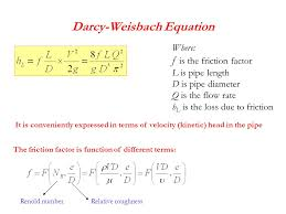 darcy weisbach equation