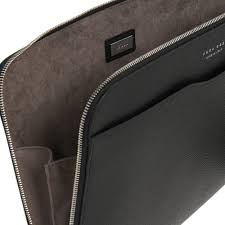 black signature leather portfolio