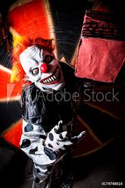 Fotografie Obraz Horror Scary Killer Circus Clown Halloween