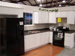 Kitchens With Dark Cabinets And White Appliances Tiny Counter White