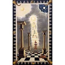 Masonic Degree Chart Rare Entered Apprentice 1st Degree Masonic Symbolic Plate Art Chart Trestle Tracing Board Print
